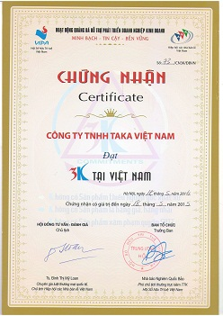 Taka nhận giải thưởng 3k