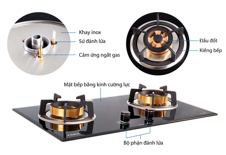 Chi tiết tính năng bếp gas âm Taka TK-105A1
