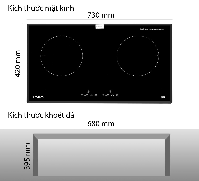 Bếp từ đôi Taka i2b2 dễ dàng sử dụng