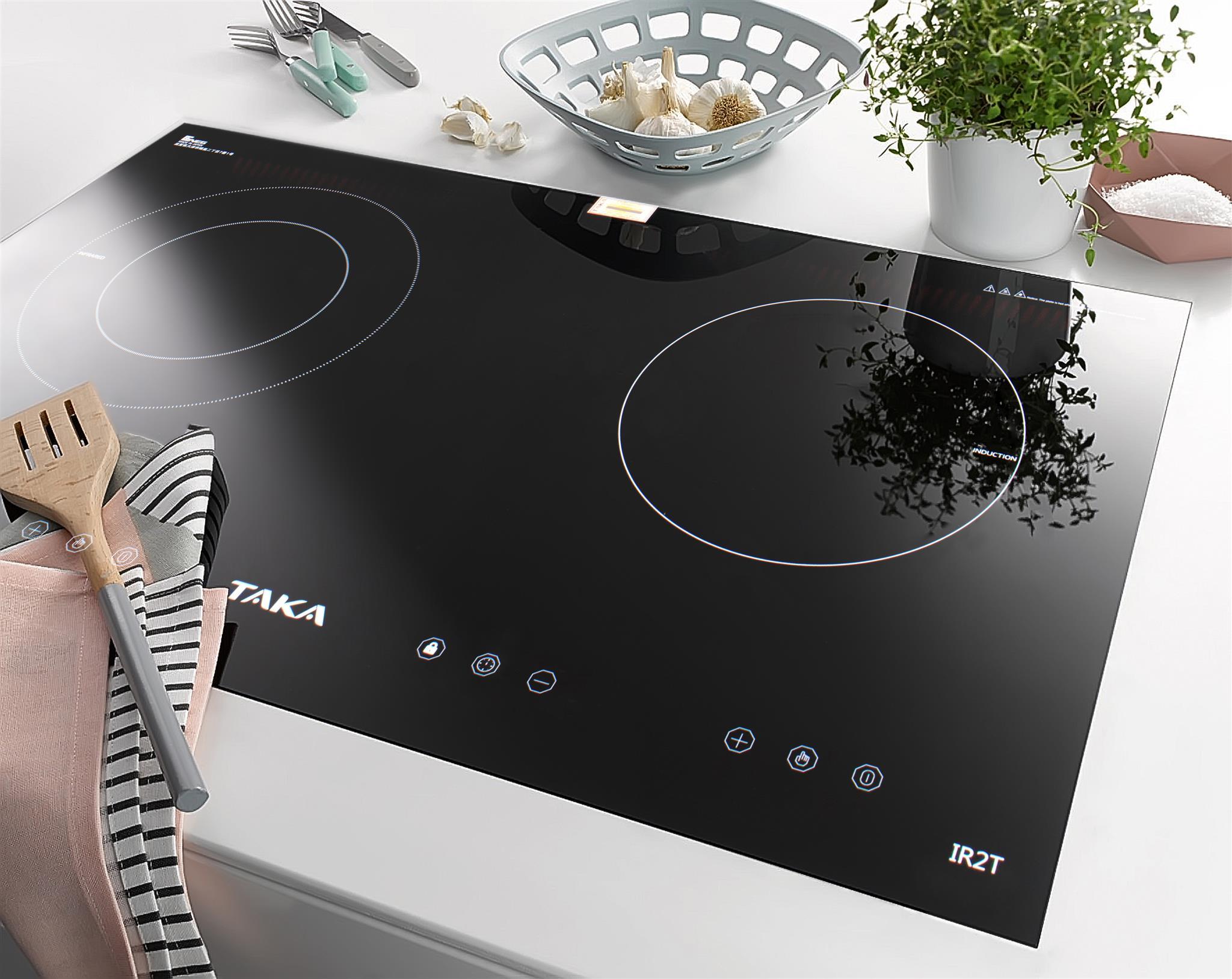 hình ảnh bếp điện từ đôi Taka ir2t