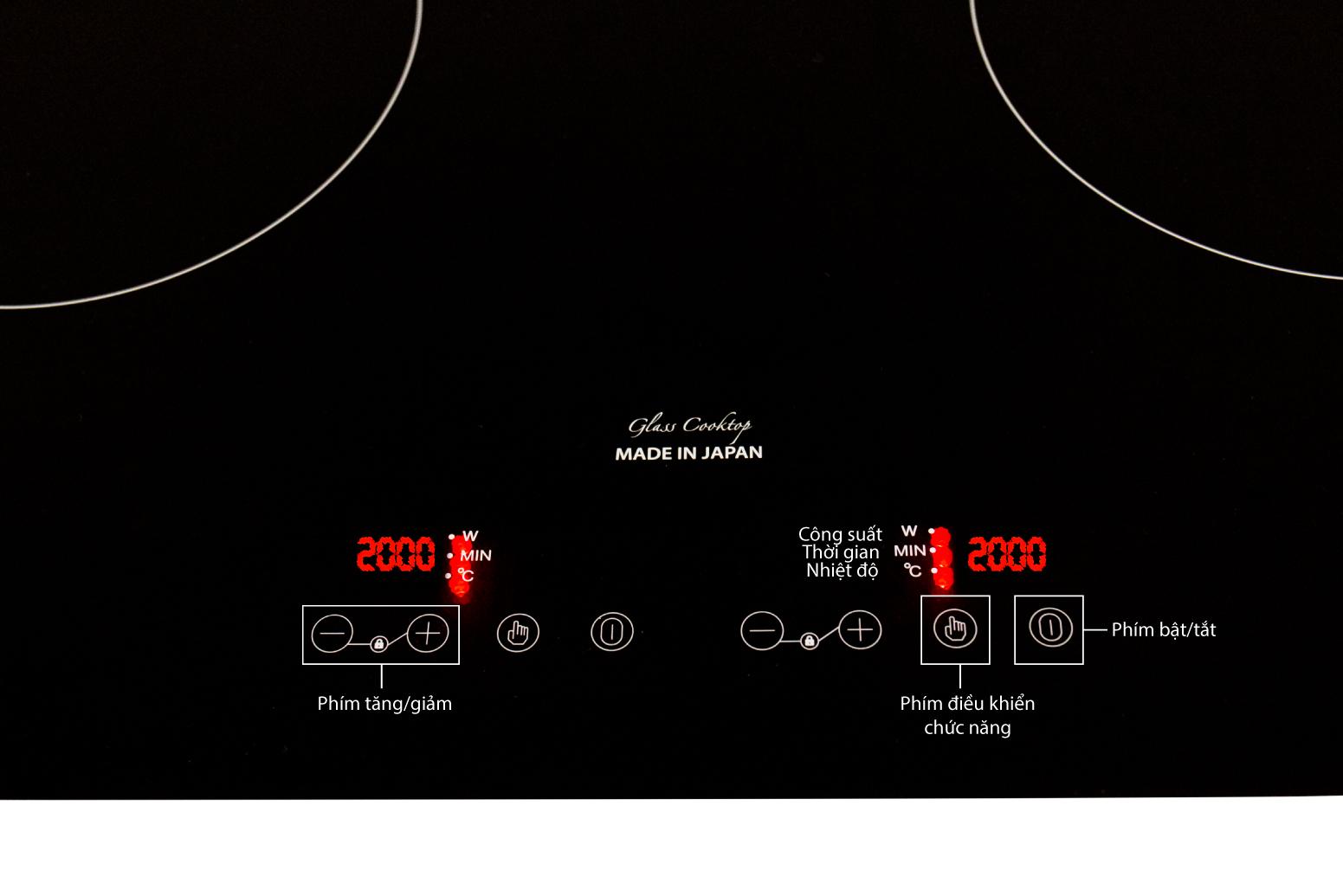 tính năng thông minh bếp từ đôi taka i2t