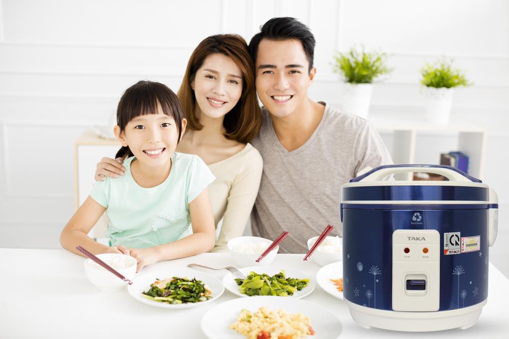 Nồi cơm điện Taka TK-RCD10D1 mang lại những bữa cơm ngon cho cả gia đình