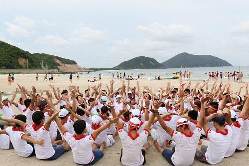 Image result for tổ chức teambuilding tại quan lạn